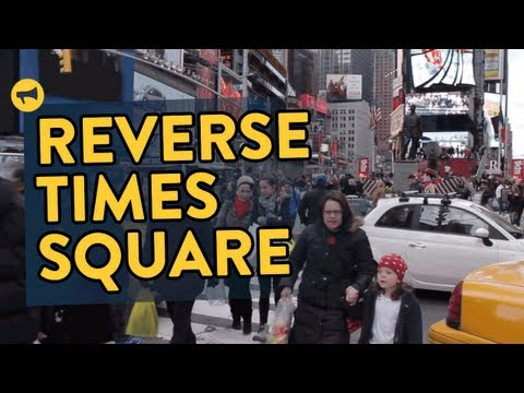 time square - More Info: http://improveverywhere.com/2013/04/01/reverse-times-square/ Over 2000 people move backwards through Times Square Subscribe on YouTube: http://bi...