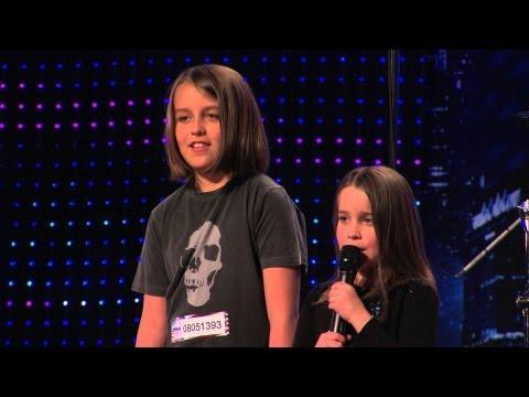"Six year old Aaralyn & Izzy sing ""ZOMBIE SKIN"" on America's Got Talent. *****"