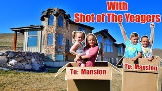 WE MAILED OURSELVES TO A MANSION AND IT WORKED! (skit) | Shot of the Yeagers Challenge Kids Fun TV