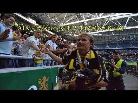 AIK - Elfsborgs IF 2-1 (2013-08-03) Tjernas hyllningsmatch