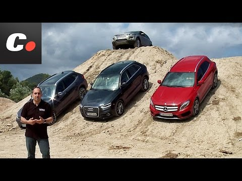 Prueba comparativa SUV coches.net: Mercedes GLA, Range Rover Evoque, Audi Q3, BMW X1 – Test / Review