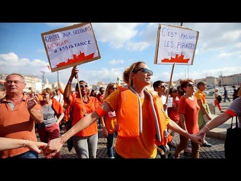 Διαδηλώσεις υπέρ του Aquarius στη Γαλλία