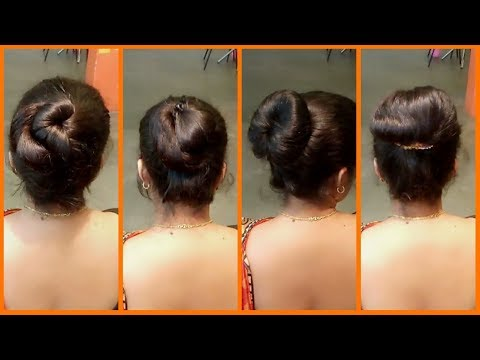 Easy hairstyles - 4 Easy Bun Hairstyles  Quick & Simple Latest Hairstyles