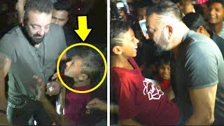 Video Sanjay Dutt's Little FAN Begs To HUG Him - What Sanjay Does Next Will Melt Your Heart MP3, 3GP, MP4, WEBM, AVI, FLV September 2018