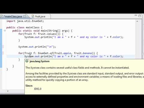 Java Programming - 36 - The EnumSet Class