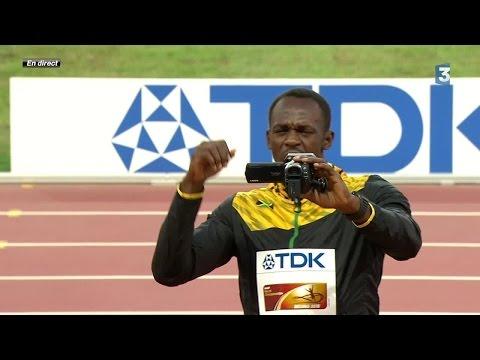 Le selfie vidéo d'Usain Bolt sur le podium