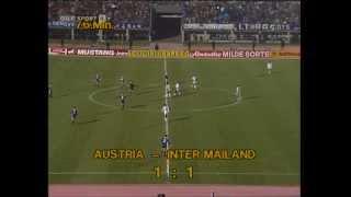 Tibor Nyilasi gleicht für die Austria gegen Inter Mailand aus (1983)