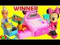 Disney Princess Cinderella Grocery Shopping Winner With Minnie Mouse Cash Register