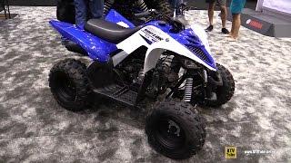 9. 2016 Yamaha Raptor 90 Sport ATV - Walkaround - 2015 AIMExpo Orlando