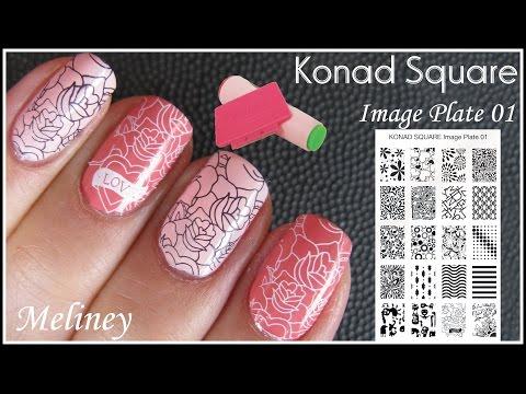 Square Stamping Set (KONAD Stamping Nail Art)