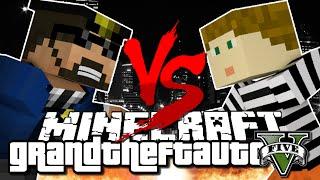 Minecraft Challenge - GTA V - COPS VS ROBBERS