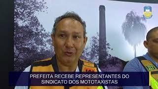 Prefeita Délia Razuk recebe representantes do Sindicato dos Mototaxistas de Dourados e Região