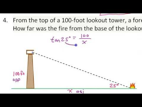Applications of Trigonometric Ratios (Word Problems Involving Tangent, Sine and Cosine)