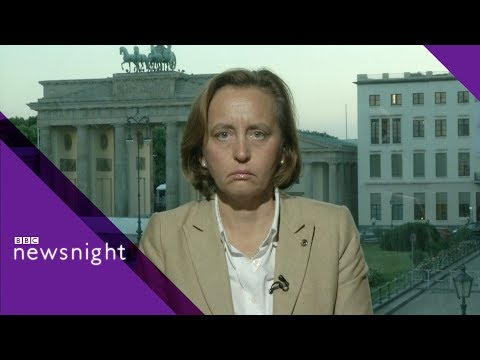 German right-wing leader challenged on immigration