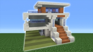 Minecraft Tutorial: How To Make A Small Modern House