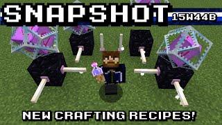 How to Craft End Crystals! - Minecraft 15w44b Snapshot Showcase