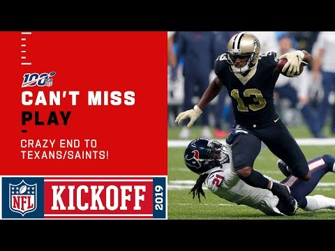 CRAZY END to Texans/Saints!