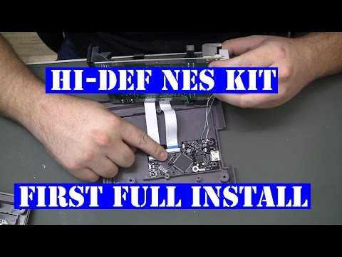 Nintendo Hi-Def NES - install walk through - 1080p HDMI - Tips n Tricks