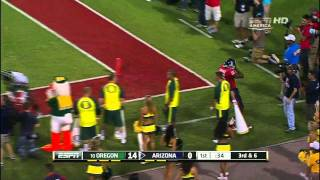 Cliff Harris vs ASU and Arizona 2011