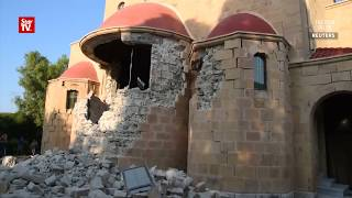 Amateur video shows damaged buildings and vehicles following a magnitude 6.7 earthquake near major Turkish and Greek...