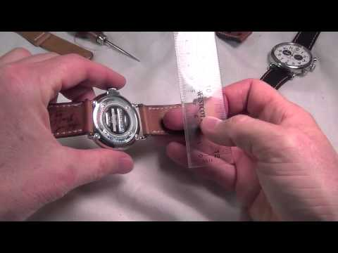 How to: Measure lug width / strap width to determine what width of strap to order.
