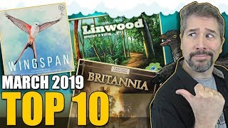 Top 10 hottest board games: March 2019