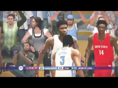 (Ohio State Buckeyes vs North Carolina Tar Heels) (NCAA Basketball 20 Mod 2019 2020 Season) PS3