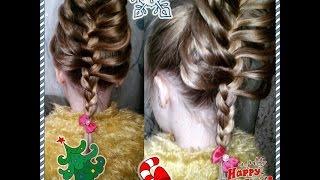 коса с карандашом на длинные волосы прическа