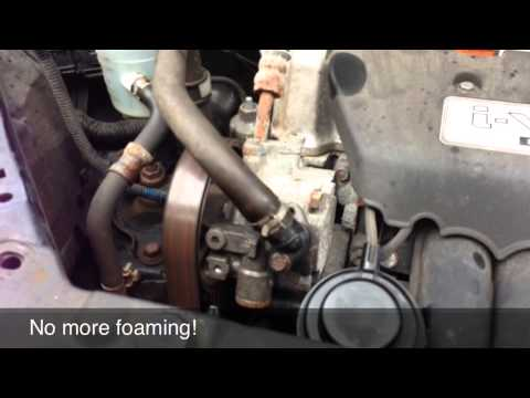 Honda FR-V Whining Power Steering Fix  – DIY –