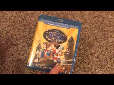 Disney Three Musketeers 10th Anniversary Mickey Donald Goofy Blu-Ray Unboxing