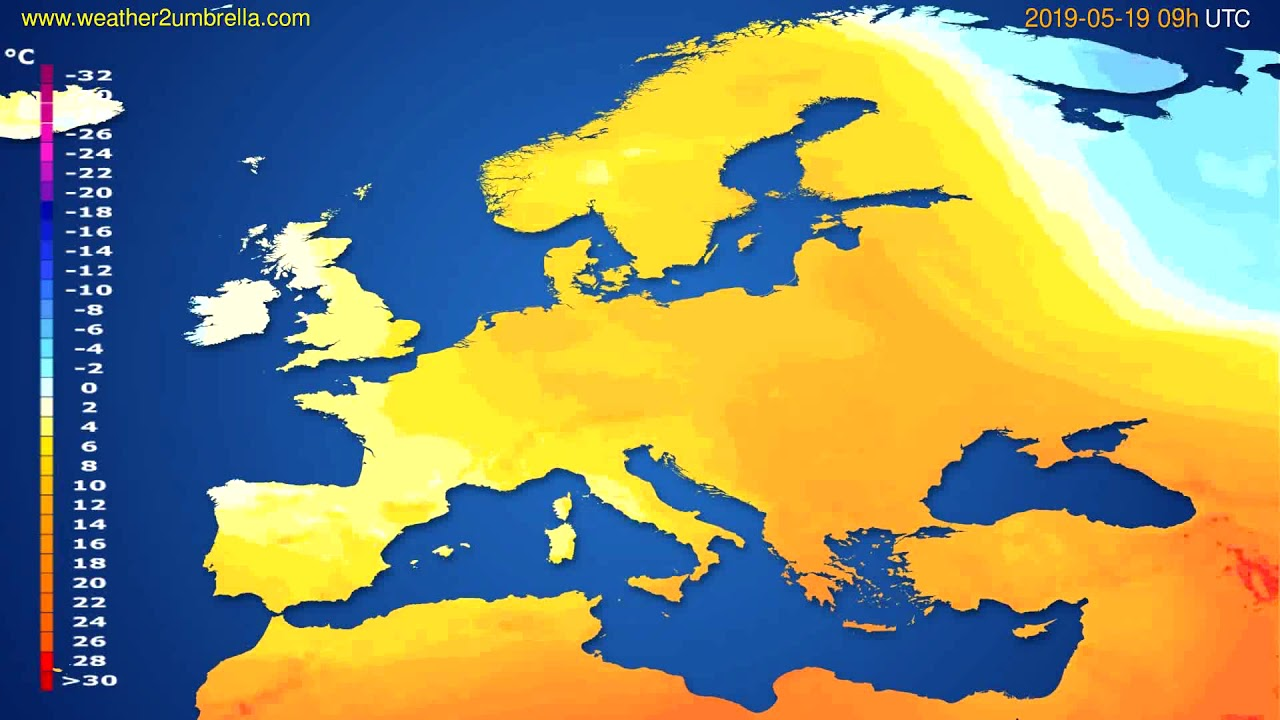 Temperature forecast Europe // modelrun: 12h UTC 2019-05-17