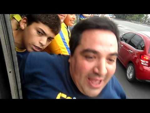 la fiesta en el micro llendo a la bombonera boca vs rafaela (p4) 2-4-16 - La 12 - Boca Juniors
