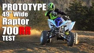 10. Prototype Yamaha Raptor 700 Test:  49.5