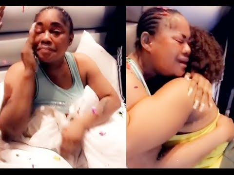 Actress Sikiratu Sindodo in Tears As kemmy korede,Bukola Adeeyo,Other surprised her on her birthday