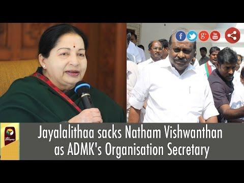 Jayalalithaa-sacks-Natham-Vishwanthan-as-ADMKs-Organisation-Secretary