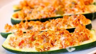 Turkey Stuffed Zucchini Boats - Clean&Delicious®