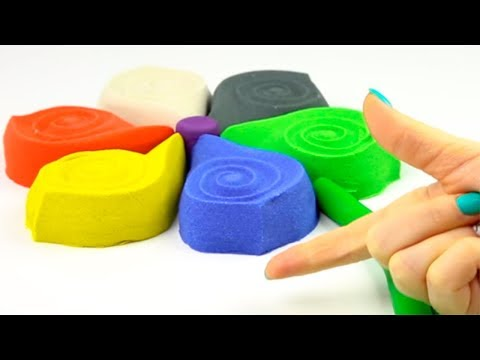 Learn Colors Play Doh Kinetic Sand Numbers Toys Creative Video For Kids Coloring