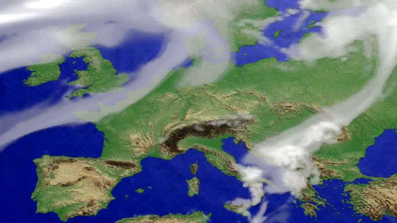 Cloud forecast Europe 2016-08-05