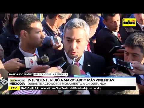 Intendente pidió a Mario Abdo más viviendas