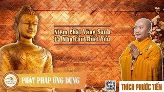 Niệm Phật Vãng Sanh Là Nhu Cầu Thiết Yếu - Thầy Thích Phước Tiến mới nhất 2018