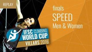 (LIVE) IFSC Climbing World Cup Villars 2016 - Speed - Finals - Men/Women by International Federation of Sport Climbing