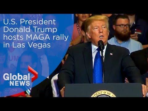 President Trump hosts MAGA rally in Las Vegas