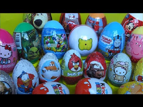 Surprise eggs Thomas Peppa Kinder Shrek Mickey CarsDisney Planes