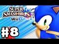 Super Smash Bros. Wii U - Gameplay Walkthrough Part 8 - Sonic! (Nintendo Wii U Gameplay)