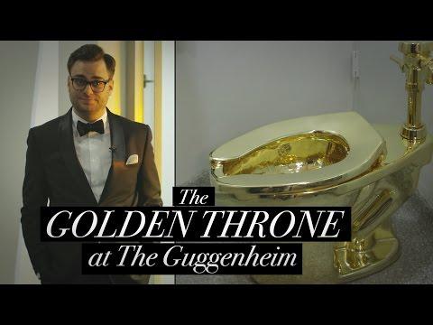 Golden Thrones The Guggenheim s Golden Toilet