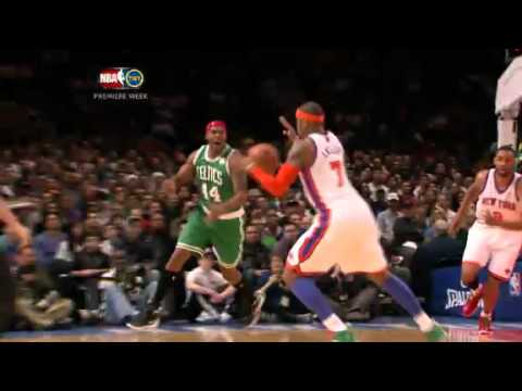 Carmelo Anthony's steal and dunk vs. Celtics- Christmas 2011