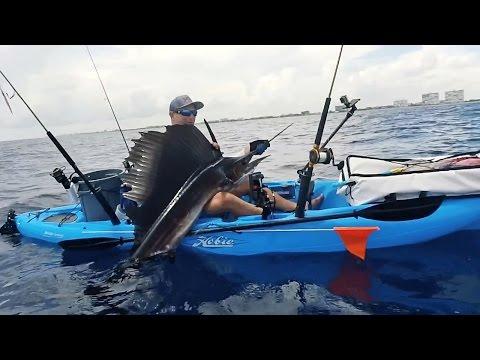 Kayak fishing for sailfish and bonito free video and for Deep blue kayak fishing