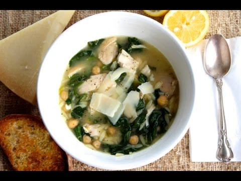 Mediterranean Diet: How to Make a Healthy Easy Mediterranean Orzo Pasta Chicken Soup