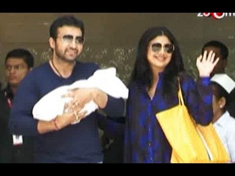 Shilpa Shetty spotted with her baby boy