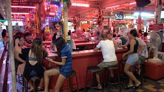 A look at the famous Pattaya beer garden bars which is located at the entrance to Walking street.